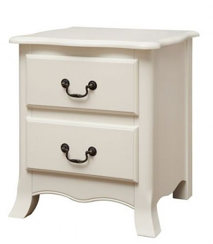 Chateau Off White 2 Drawer Bedside